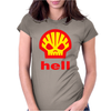 Shell Hell Protest Anti Oil Industry Fossil Womens Fitted T-Shirt