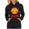 Shell Hell Protest Anti Oil Industry Fossil Womens Hoodie