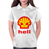 Shell Hell Protest Anti Oil Industry Fossil Womens Polo