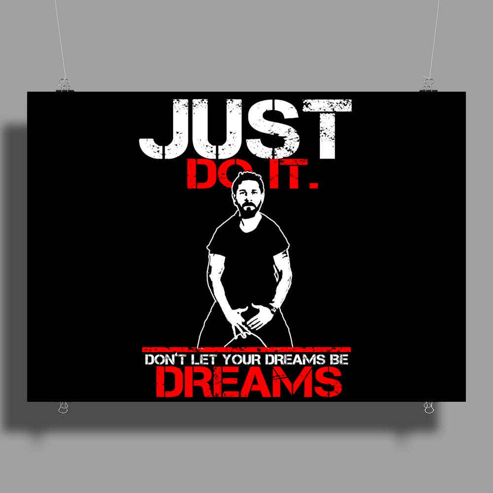 Shia Labeouf Just Do It! Poster Print (Landscape)