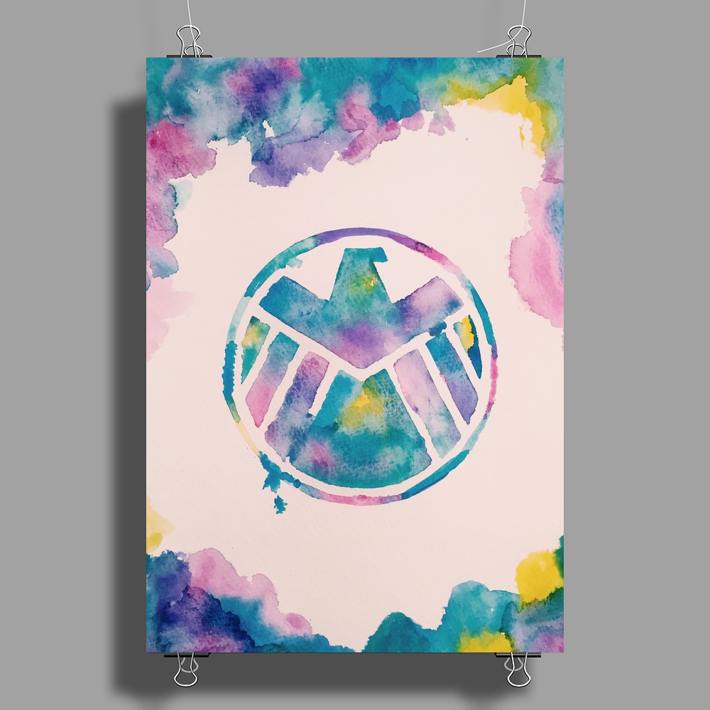 S.H.I.E.L.D. Watercolor Poster Print (Portrait)