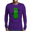 Silly Funny Pickle Tickle Monster Mens Long Sleeve T-Shirt