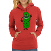 Silly Funny Pickle Tickle Monster Womens Hoodie