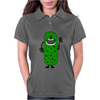 Silly Funny Pickle Tickle Monster Womens Polo