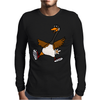 Silly Goose with Red High Top Sneakers Original Art Mens Long Sleeve T-Shirt