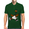 Silly Goose with Red High Top Sneakers Original Art Mens Polo