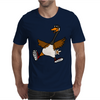 Silly Goose with Red High Top Sneakers Original Art Mens T-Shirt