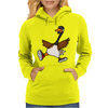 Silly Goose with Red High Top Sneakers Original Art Womens Hoodie