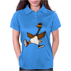 Silly Goose with Red High Top Sneakers Original Art Womens Polo