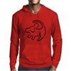 Simba Rafiki Drawing Lion King Mens Hoodie