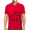 Simba Rafiki Drawing Lion King Mens Polo