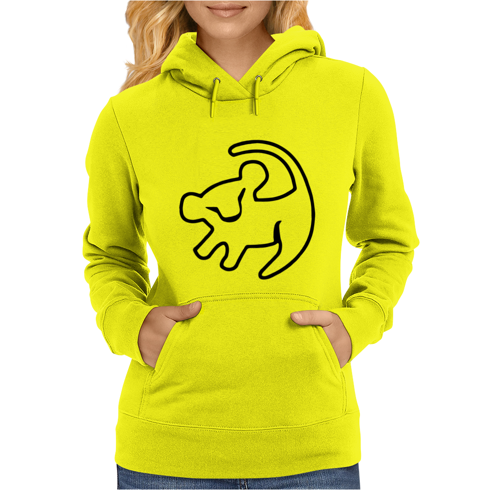 Simba Rafiki Drawing Lion King Womens Hoodie