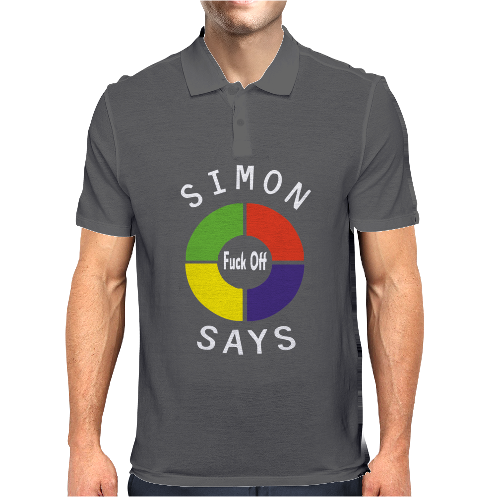 Simon Says Funny Mens Polo