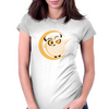 Simple Owl Womens Fitted T-Shirt