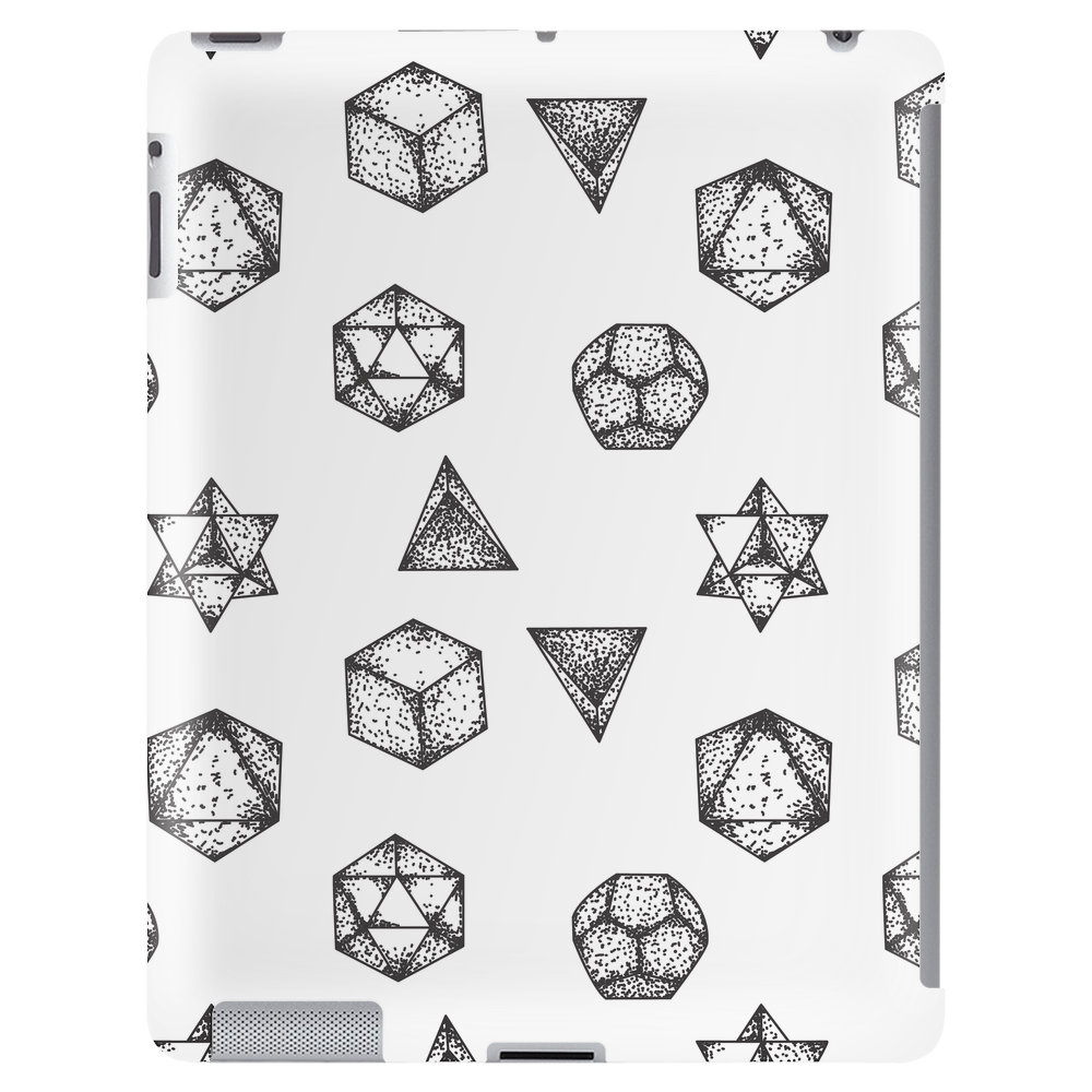 Simply beautiful geometric tattoos seamless pattern Tablet