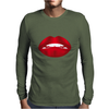 Simply red lips Mens Long Sleeve T-Shirt