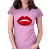 Simply red lips Womens Fitted T-Shirt
