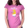 Simpsons Minion Movie Parody Homer Funny Womens Fitted T-Shirt