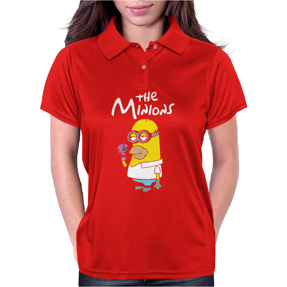 Simpsons Minion Movie Parody Homer Funny Womens Polo