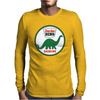 Sinclair Dino Gasoline vintage sign. Flat and clean version. Mens Long Sleeve T-Shirt