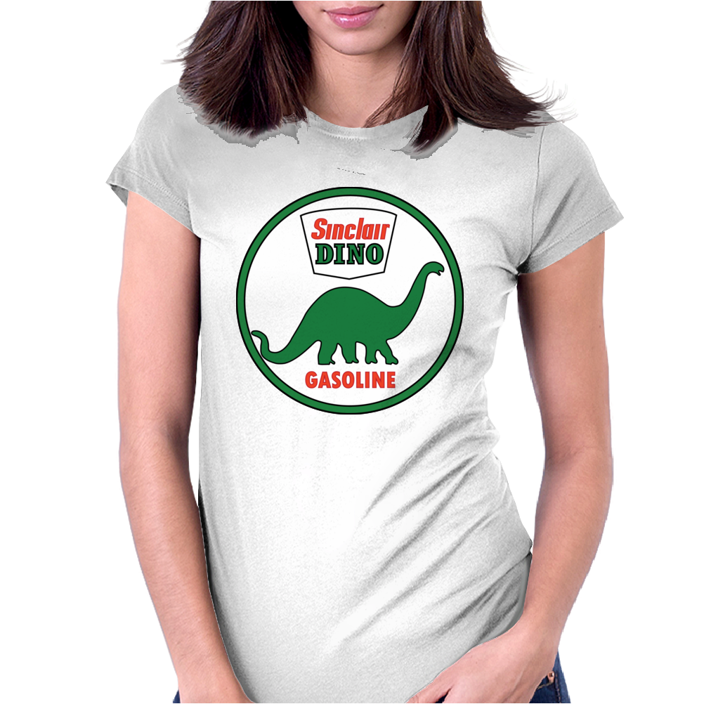 Sinclair Dino Gasoline vintage sign. Flat and clean version. Womens Fitted T-Shirt