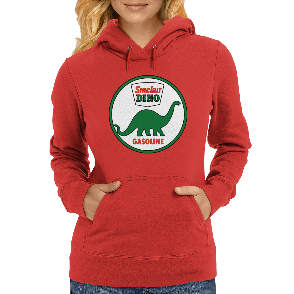 Sinclair Dino Gasoline vintage sign. Flat and clean version. Womens Hoodie