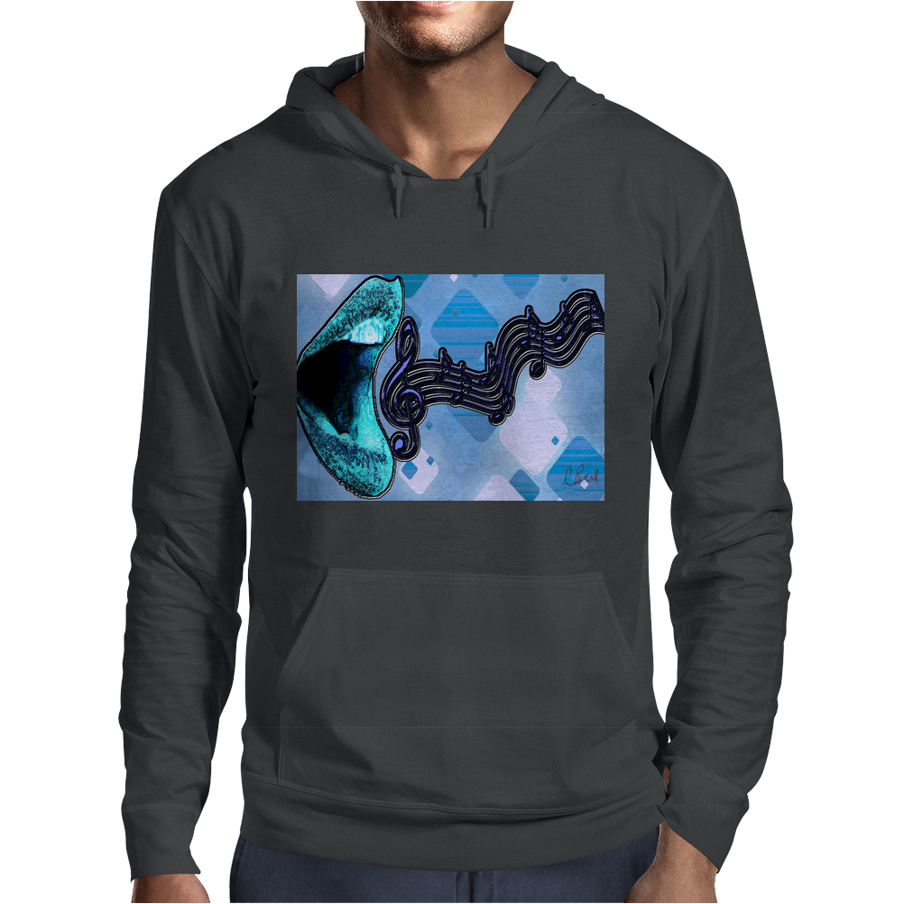 Singing the Blues Mens Hoodie