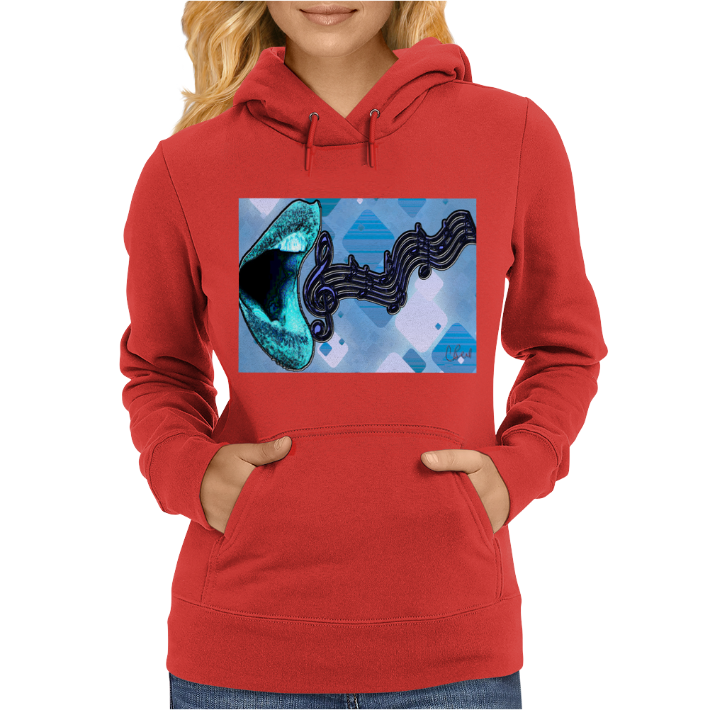 Singing the Blues Womens Hoodie