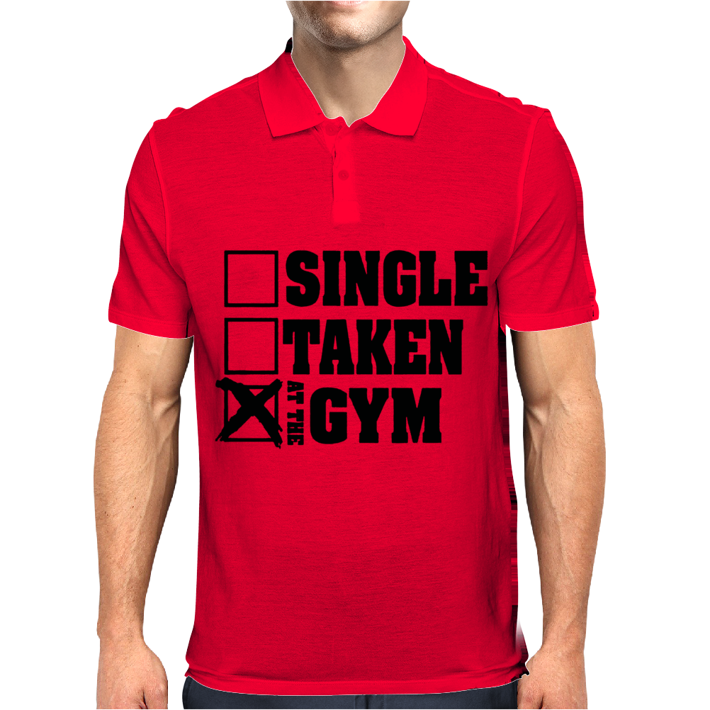Single Taken At the Gym Mens Polo