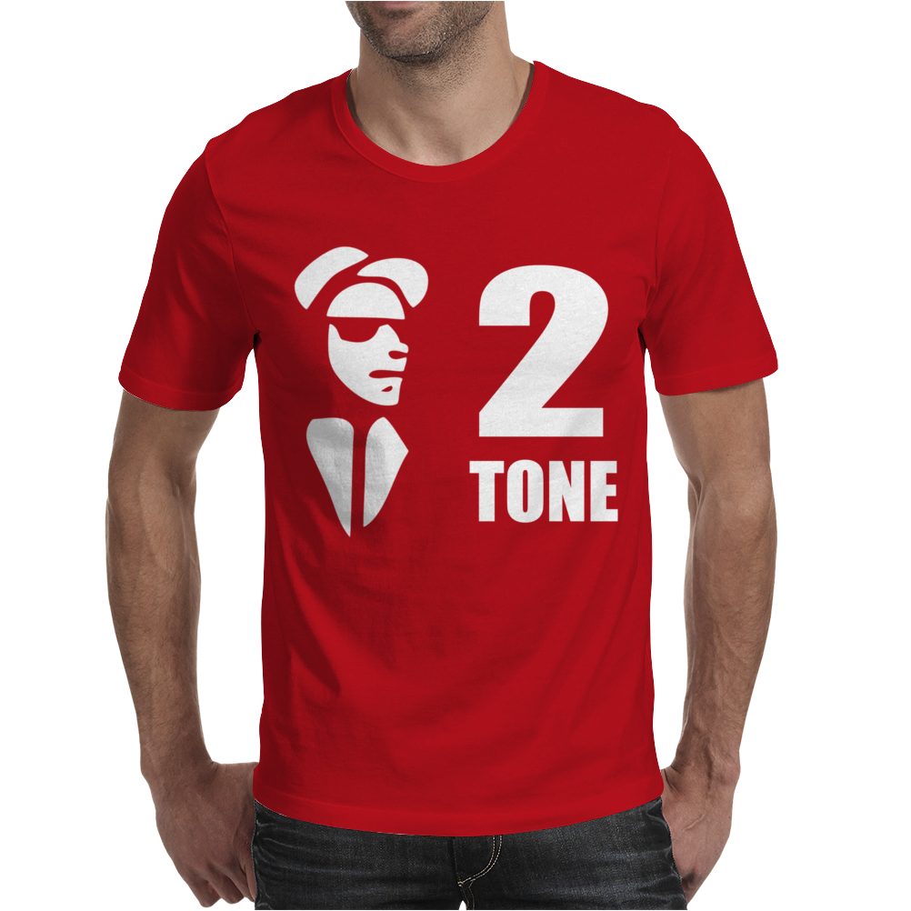 Ska 2 Tone Music Reggae Punk Retro Rude Boy Mens T-Shirt