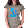 Skate Boarder Tricks Womens Fitted T-Shirt