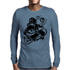 Skateboarding Space Mens Long Sleeve T-Shirt
