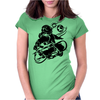 Skateboarding Space Womens Fitted T-Shirt
