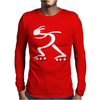 Skater Rollerblade Mens Long Sleeve T-Shirt