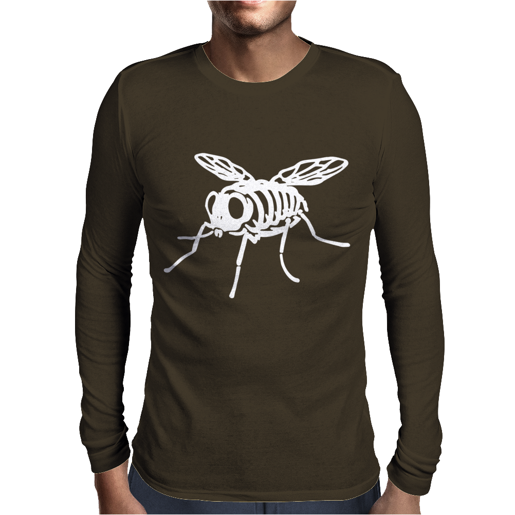 Skeleton Bug Mens Long Sleeve T-Shirt