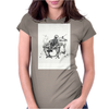 Skeleton Drummer Womens Fitted T-Shirt