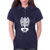 Skeleton Halloween Womens Polo