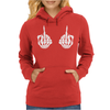 Skeleton Hands Womens Hoodie