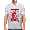 Skeleton on pile of skulls Mens Polo