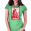 Skeleton on pile of skulls Womens Fitted T-Shirt