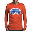 Ski Goggles Mountain Snowboard Mens Long Sleeve T-Shirt