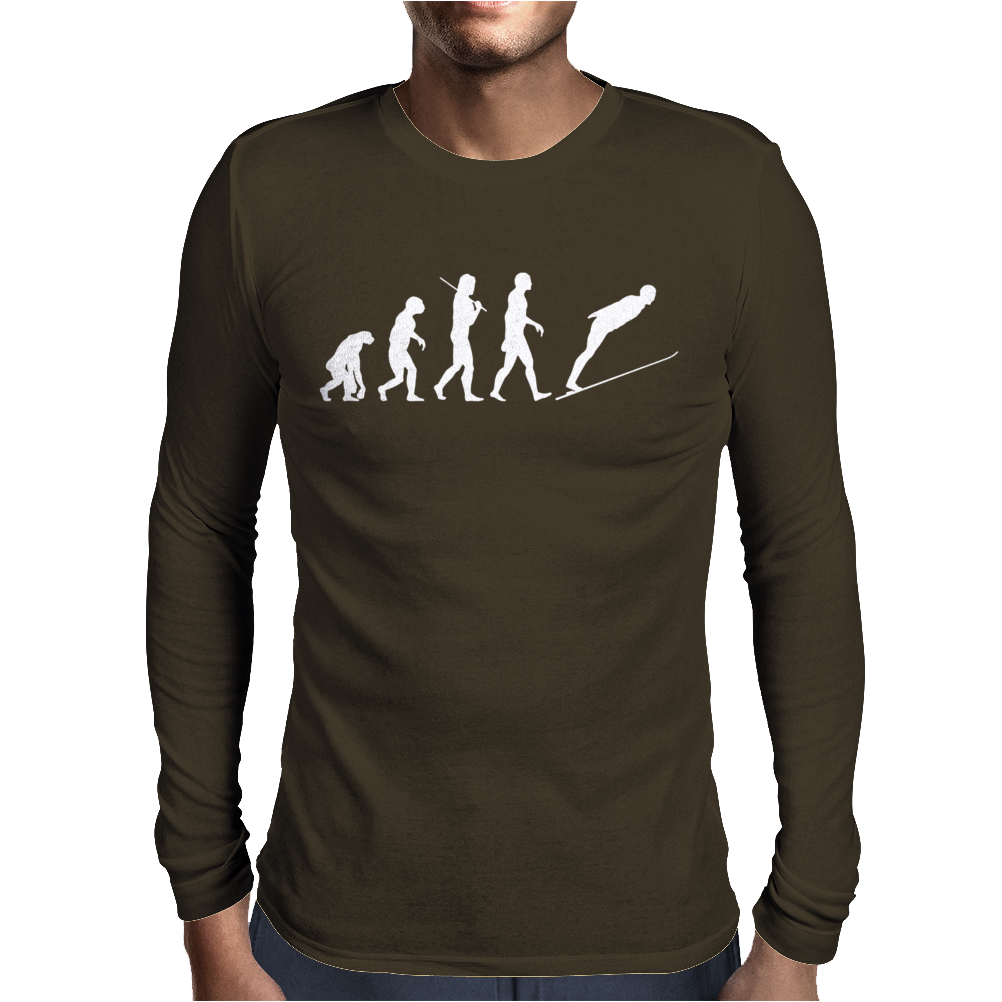 Ski Jump Mens Long Sleeve T-Shirt