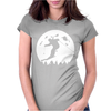 Skiier Moon Moonlight Silhouett Womens Fitted T-Shirt