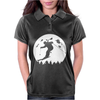 Skiier Moon Moonlight Silhouett Womens Polo