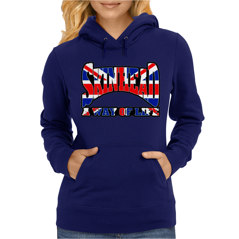 Skinhead Union Jack, Ideal Birthday Gift Or Present Womens Hoodie
