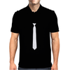 Skinny White Tie Mens Polo