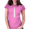 Skinny White Tie Womens Fitted T-Shirt