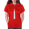 Skinny White Tie Womens Polo