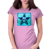skull and bones (blue) Womens Fitted T-Shirt