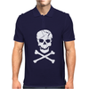 Skull and Crossbones Pirate Neon Mens Polo